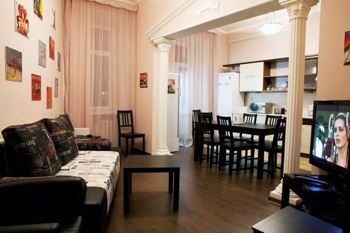 Хостел Fresh Hostel на улице Сретенка переулке в Москве,  комната отдыха