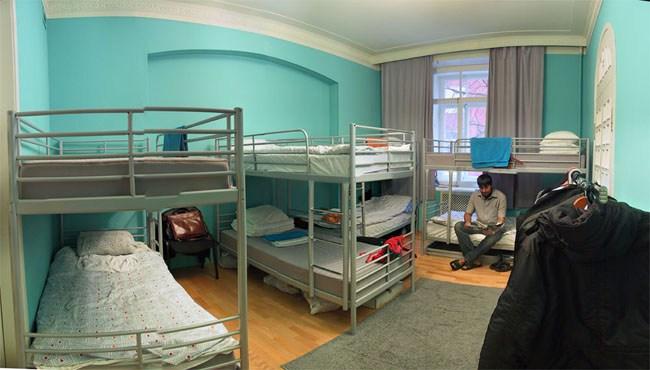 7 Sky Hostel на Мясницкой в Москве, синяя комната