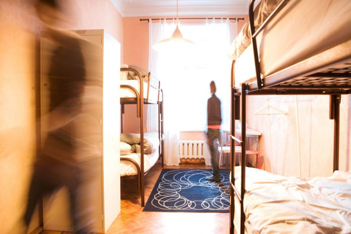 Хостел День и Ночь в Лучниковом переулке в Москве, четырехместная комната
