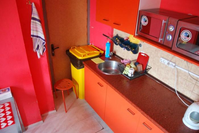 Хостел Matreshka Hostel в Неопалимовском переулке, кухня
