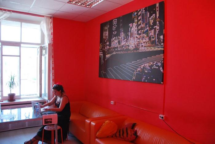 Хостел Matreshka Hostel в Неопалимовском переулке, комната отдыха