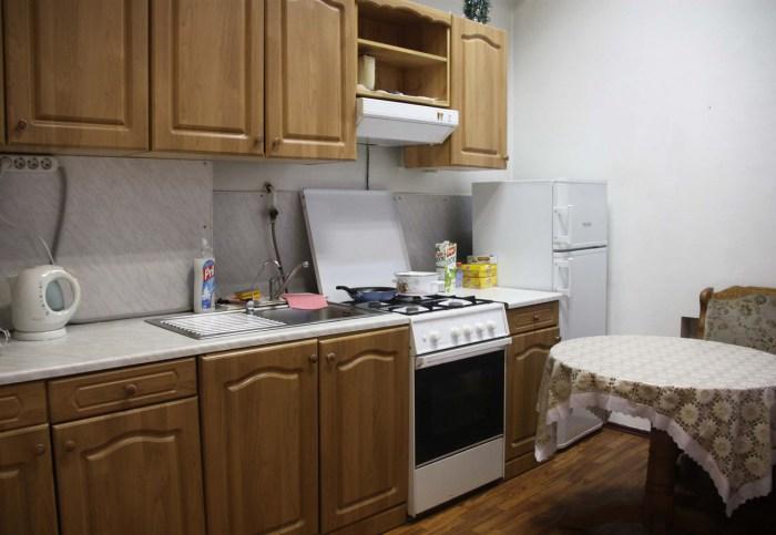 Хостел Orange Hostel на Новой Басманной в Москве, кухня
