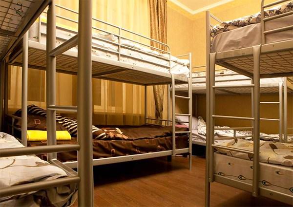 Хостел Fresh Hostel на улице Сретенка переулке в Москве,  восмиместная комната