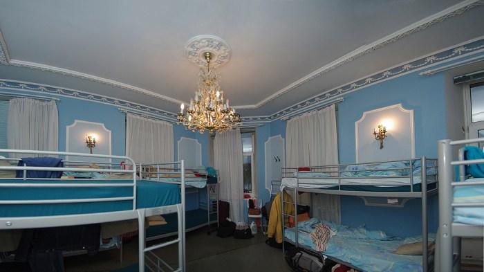 HM Hostel Moscow в Малом Афанасьевском переулке в Москве, голубая комната