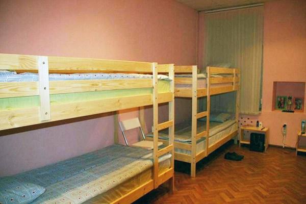 Хостел Rainbow в Лучниковом переулке в Москве, четырехместная комната