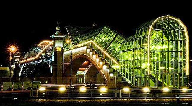 Подсветка Краснолужского моста желаний